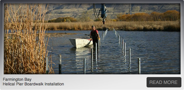Intermountain Helical Piers & Helical Piles for Foundation Repair Farmington Bay